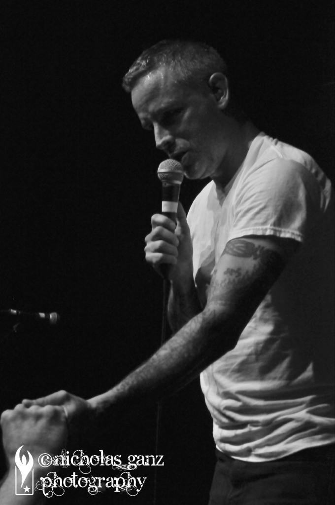 Nathan Gray von Boysetsfire live im SO36 am 29. Juni 2018.